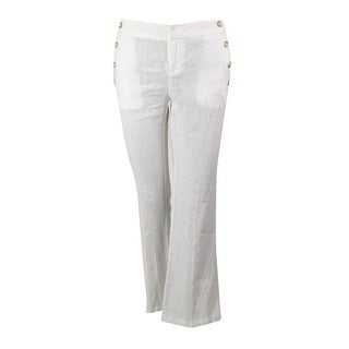 INC International Concepts Women's Curvy Wide Leg Linen Pants