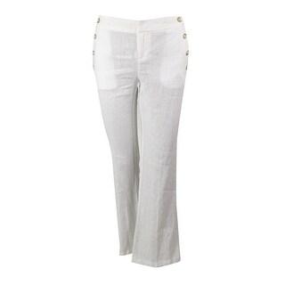 INC International Concepts Women's Wide Leg Linen Pants