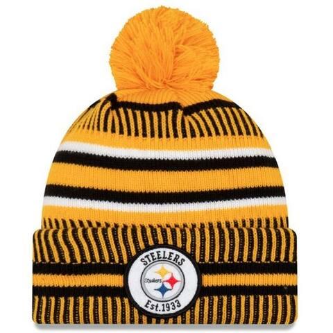 New Era 2019 NFL Pittsburgh Steelers Cuff Knit Hat REV Home Beanie Stocking Cap