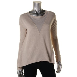 R & R Surplus Womens Heathered Seamed Pullover Sweater