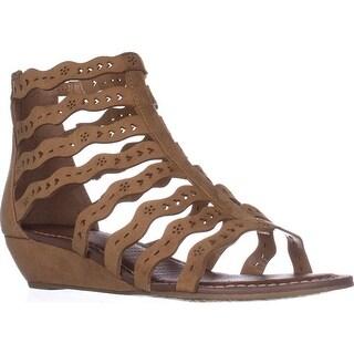Carlos Carlos Santana Kitt Low Heel Wedge Sandals, Brulee