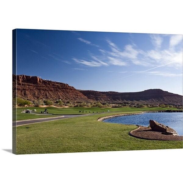 Shop Premium Thick Wrap Canvas Entitled Golf Course