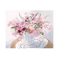 ''Pink Floral Spray'' by Celia Russell Floral Art Print (23.5 x 31.5 in.)