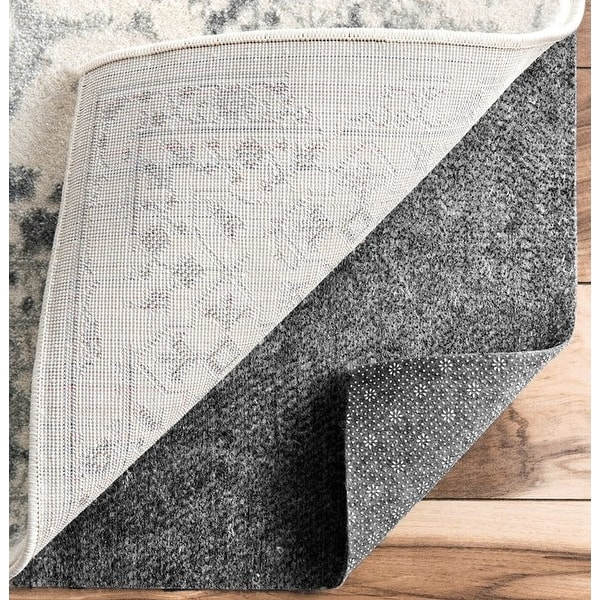 "1/3"" Thick Premium Non-slip Reduce Noise Carpet Mat - Grey"