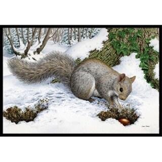 Carolines Treasures ASA2180MAT Grey Squirrel Indoor or Outdoor Mat 18 x 27