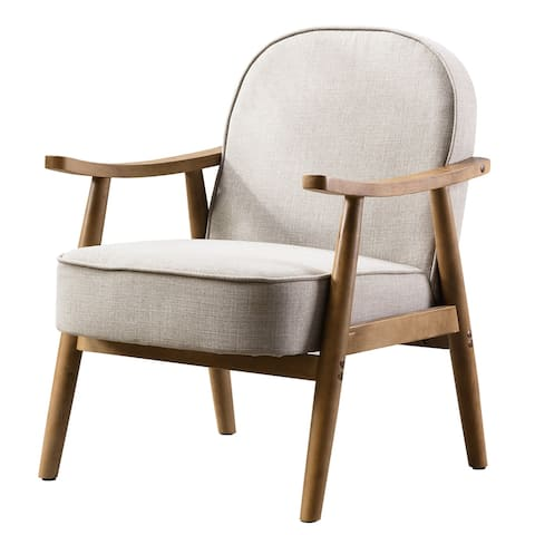 Mid-century Cushioned Lounge Chair