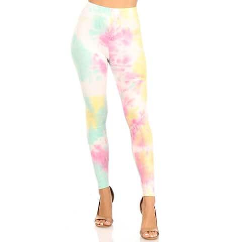 Women's Casual Tie Dye Solid Color Active Leggings Pants