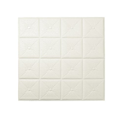3D Wall Panels Self-stick Square Anti Collision Paper Decor Bedroom Wall Tiles