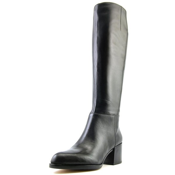 84dacb3988283 Shop Sam Edelman Joelle Women Round Toe Leather Black Knee High Boot ...