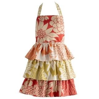"35"" Vintage Style Warm Tropical Floral Blooms Women's Kitchen Apron"