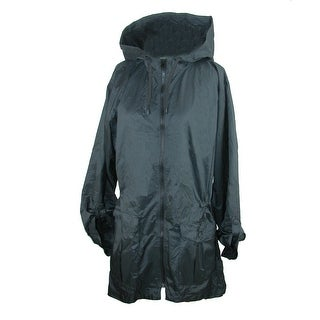 ShedRain Women's Solid Hi-Lo Sleeve Packable Rain Jacket (3 options available)