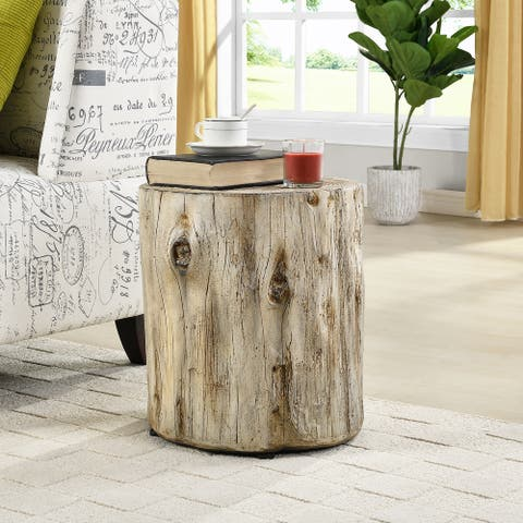 FirsTime & Co. Arbor Tree Log Round Accent Table