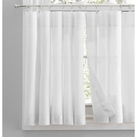 Simplicity Rod Pocket Kitchen Curtains - Tier, Swag or Valance (Sold Separately)