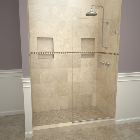 """Tile Redi 20VCNF03076 Redi Screen 76"""" High x 30"""" Wide Frameless Shower Screen with Clear Glass"""