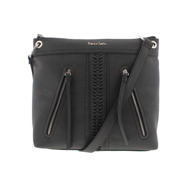 ea6a82e431a1 Franco Sarto Womens Abigail Crossbody Handbag Faux Leather Signature - LARGE