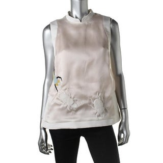 Azede Jean-Pierre Womens Silk Satin Blouse - 10