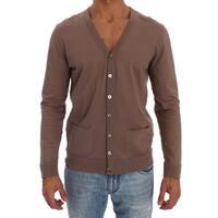 ALPHA MASSIMO REBECCHI ALPHA MASSIMO REBECCHI Beige Cotton Stretch Cardigan Sweater