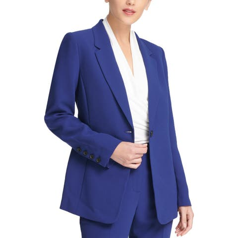 DKNY Womens One-Button Suit Jacket Suit Separate Business