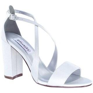 Dyeables Women's Micah Strappy Sandal Diamond White Crepe