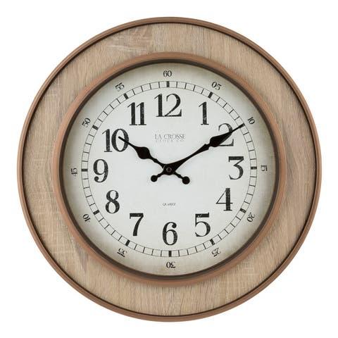 La Crosse Clock 404-3041 16 Inch Livingston Quartz Wall Clock