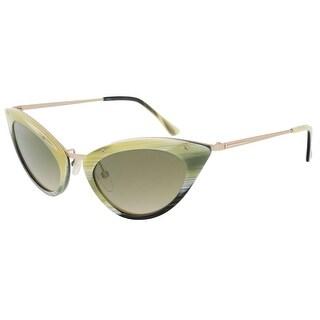 Tom Ford FT0349/S 64J Grace Olive Horn Cateye Sunglasses