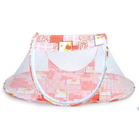 Foldable Baby Bed Mosquito Net Travel Tent Crib Multi-Function Playpen - Pink