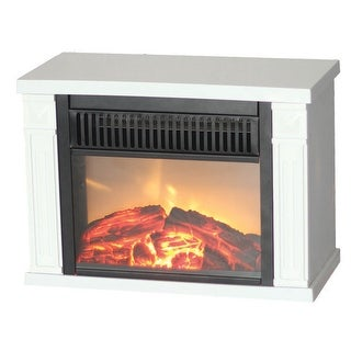 Comfort Glow EMF162 Bookshelf sized Mini Fireplace Heater - White