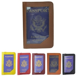 Leather Front Window Passport Cover