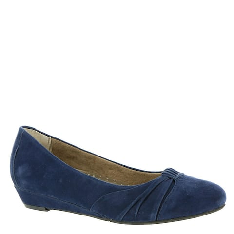 ARRAY Womens Waterford Leather Pointed Toe Ballet Flats
