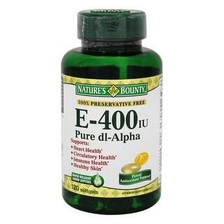 Natures Bounty Vitamin E-400 IU Pure dl-Alpha 120 Softgels