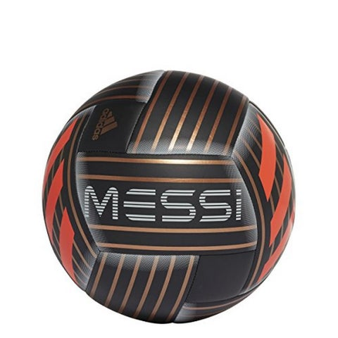 Adidas Unisex Performance Messi Soccer Ball, Black/Copper Gold/Red, 4 - black/copper gold/red