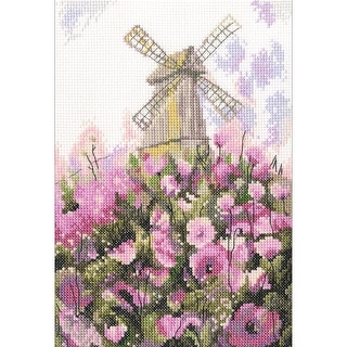 """Old Mill Counted Cross Stitch Kit-6""""X8.75"""" 14 Count"""