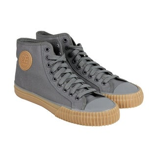 PF Flyers Center Hi Mens Gray Canvas Lace Up Sneakers Shoes