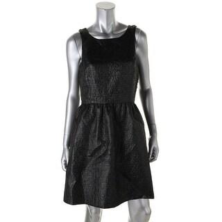 Kensie Womens Metallic Sleeveless Party Dress - L