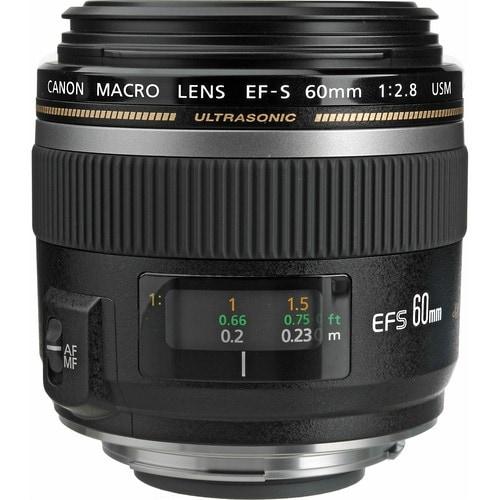 """Canon EF-S Macro Lens Canon EF-S 60mm f/2.8 Macro USM Lens - f/2.8"""