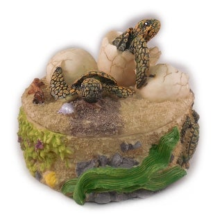 "Sea Creations Turtle Box Jewelry Box 3.5"" Green"