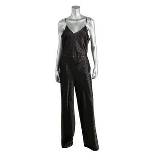 Guess Womens Satin Striped Jumpsuit