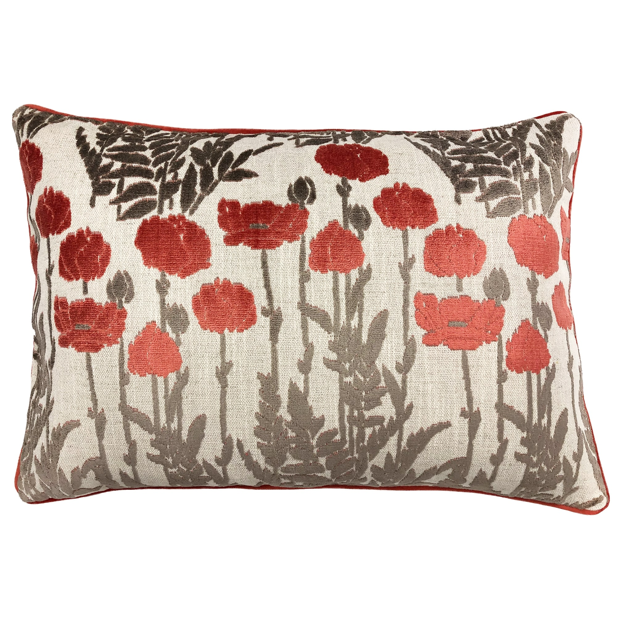 Rodeo Home Camelia Floral Cut Velvet Lumbar Pillow On Sale Overstock 31640555
