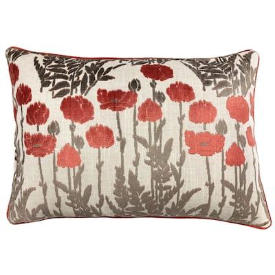 Rodeo Home Camelia Floral Cut Velvet Lumbar Pillow