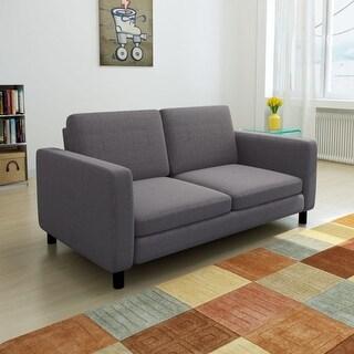 vidaXL Sofa 2-Seater Fabric Dark Gray