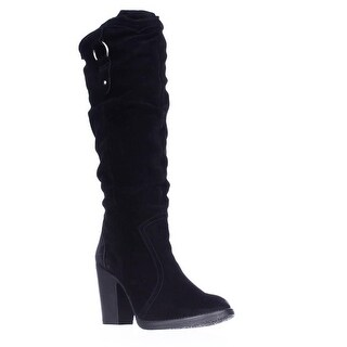 Steve Madden Gambbler Knee-High Boots - Black Suede