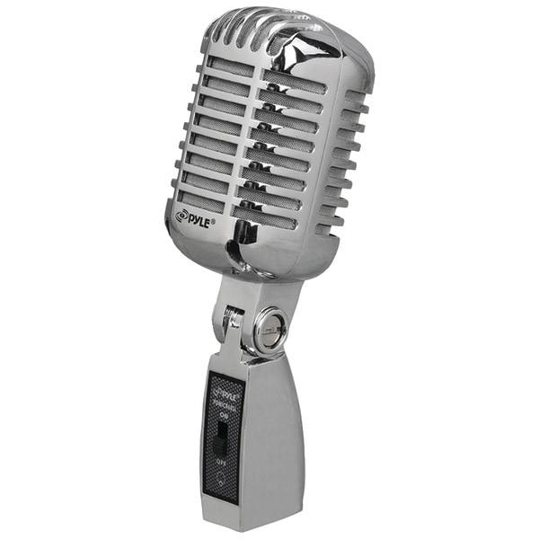 PYLE PRO PDMICR68SL Classic Die-Cast Metal Retro-Style Dynamic Vocal Microphone