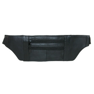 Marshal Leather Leather Undergarment Travel Security Pouch - Black