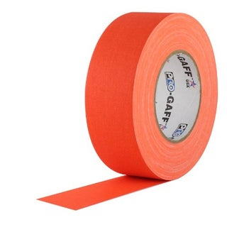 Pro Gaff Gaffers Tape 2 inch x 55 yard 24 Roll Case (Choose Color) (Option: fluorescent orange)
