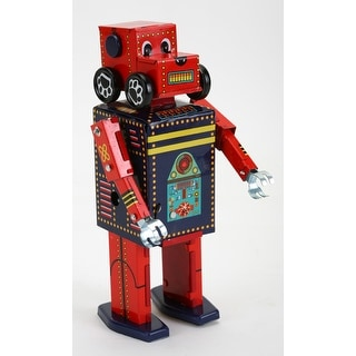 """Vintage Style 6"""" Tin Search And Rescue Robot"""