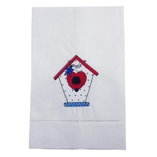 Bird House With Love Embroidered Linen Tea Towel Collection