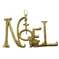 "Gold Inspirational Word ""Noel"" Christmas Ornament"