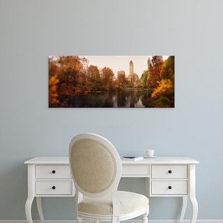 Easy Art Prints Panoramic Image 'Park with buildings, Central Park, Manhattan, New York City' Canvas Art