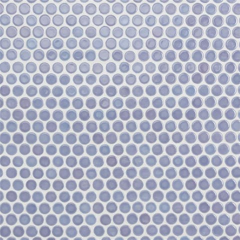 SomerTile 12x12.625-inch Penny Lavender Porcelain Mosaic Floor and Wall Tile