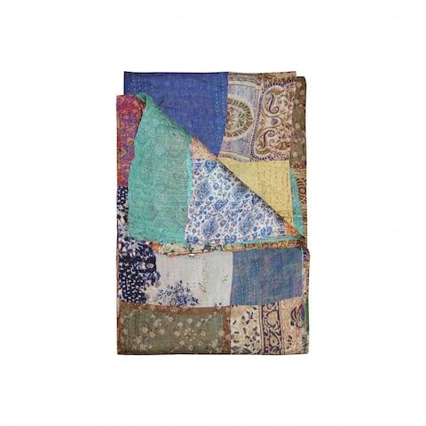 """HomeRoots 60"""" x 90"""" Silk Multicolor Throws"""